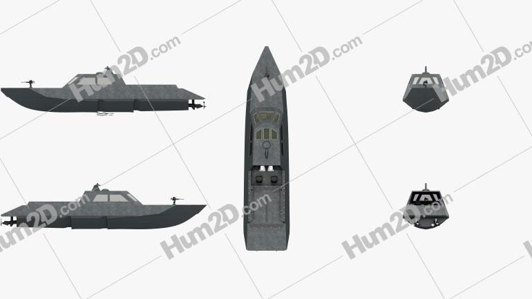 Combatant Craft Medium Mk1 Clipart Image