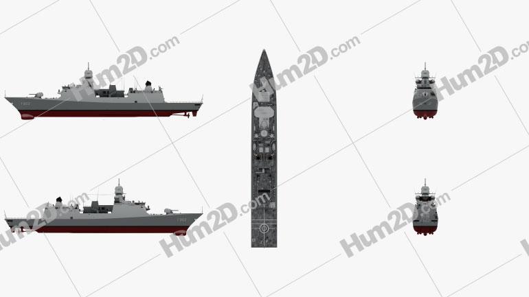 De Zeven Provincien-class frigate Clipart Image