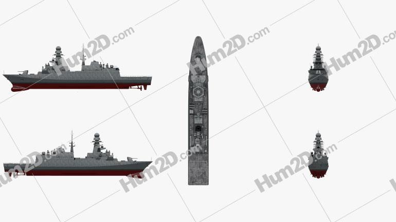 FREMM Frigate Ship clipart