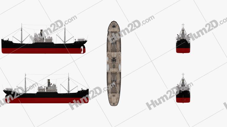 Ferris Cargo Ship Ship clipart