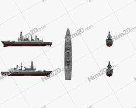 HMS Daring D32 Ship clipart