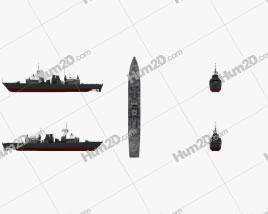 Halifax class frigate Clipart