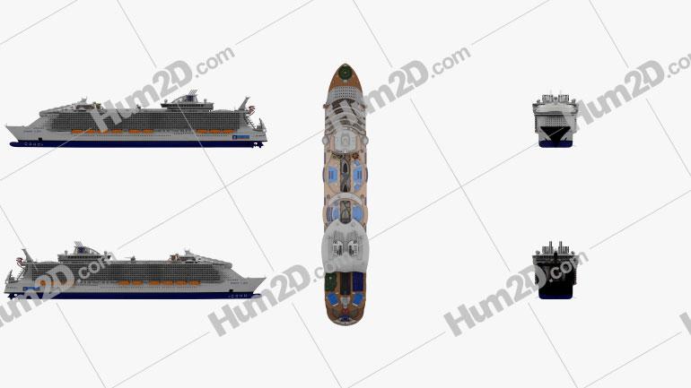 Harmony of the Seas cruise ship Ship clipart