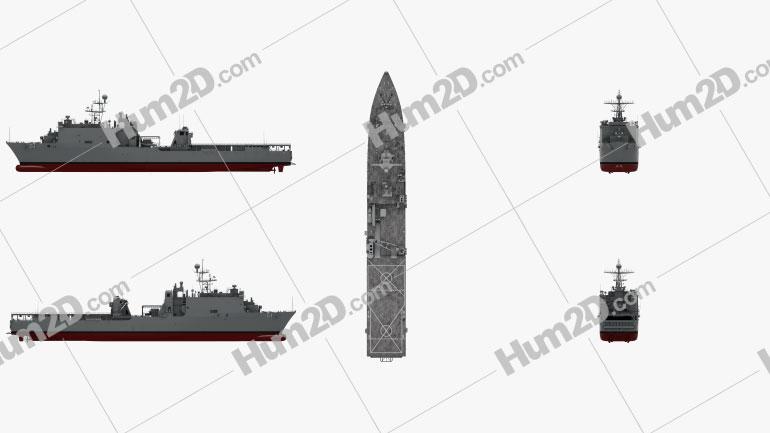 Harpers Ferry-class dock landing ship Ship clipart
