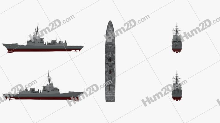 Hobart-class destroyer Ship clipart