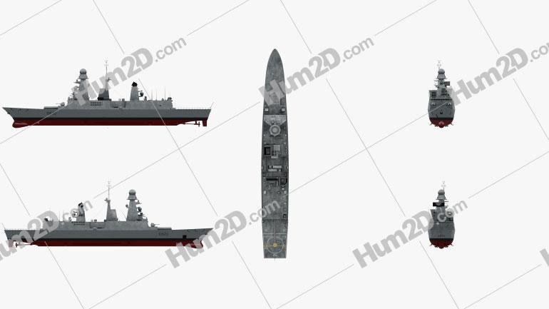 Horizon-class frigate Ship clipart