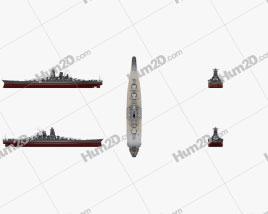 Japanese battleship Yamato Ship clipart