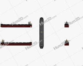 Kamsarmax Bulk Carrier Ship clipart