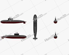 Kilo-class Russian Navy Nuclear Submarine