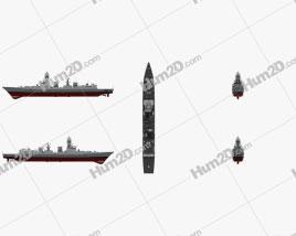 Kolkata-class destroyer Ship clipart