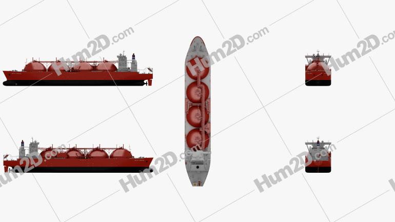 LNG Carrier Arctic Princess Schiffe clipart