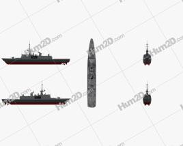 La Fayette class frigate Clipart