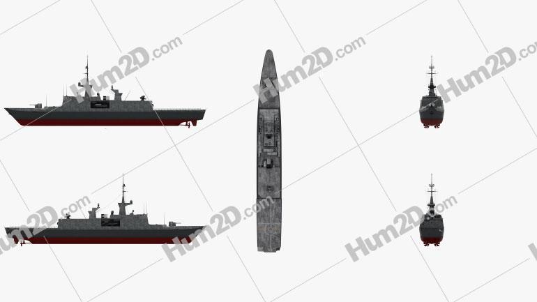 La Fayette class frigate Ship clipart