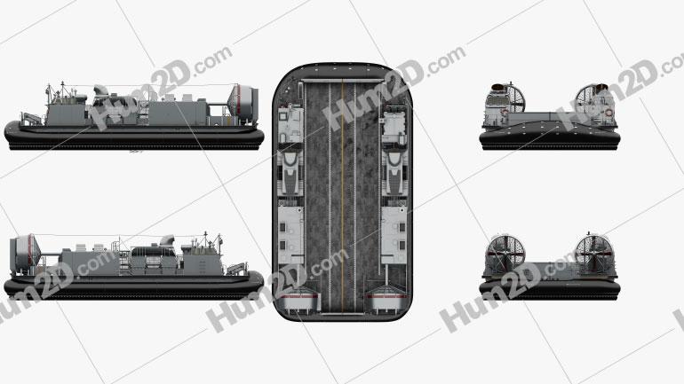 Landing Craft Air Cushion Ship clipart