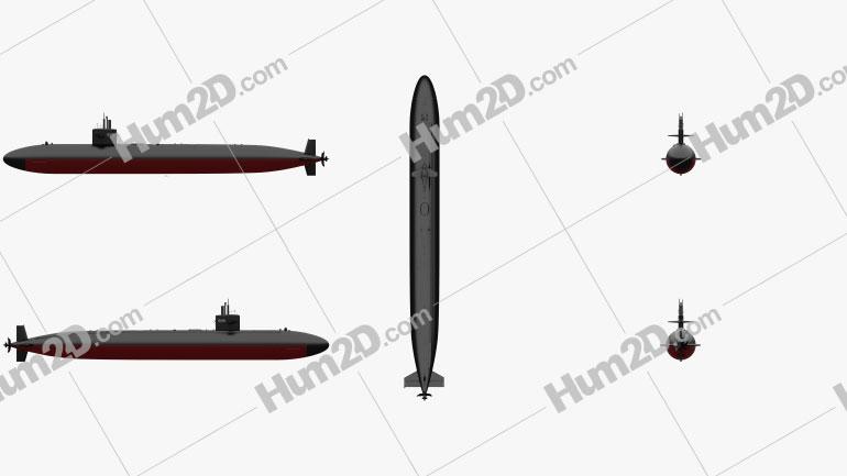 Los Angeles-class US Navy Nuclear Submarine