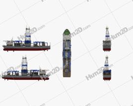 Noble Drillship Ship clipart
