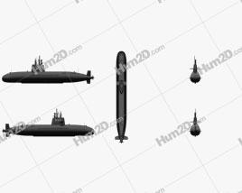 Oyashio-class Japanese Attack Submarine