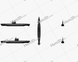 Potvis-class submarine Clipart