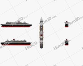 RMS Queen Mary 2 Ship clipart