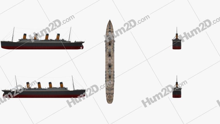 RMS Titanic Ship clipart