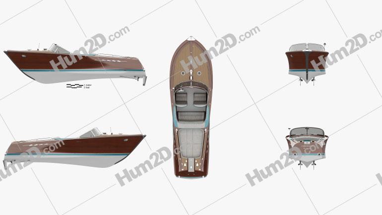Riva Aquarama Ship clipart