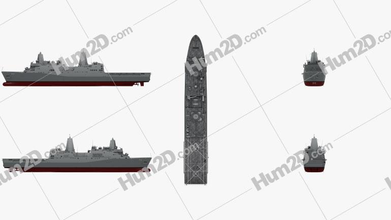 San Antonio-class amphibious transport dock Ship clipart
