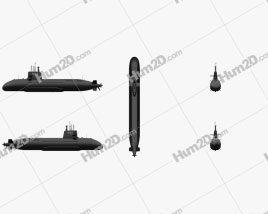 Soryu-class submarine Clipart