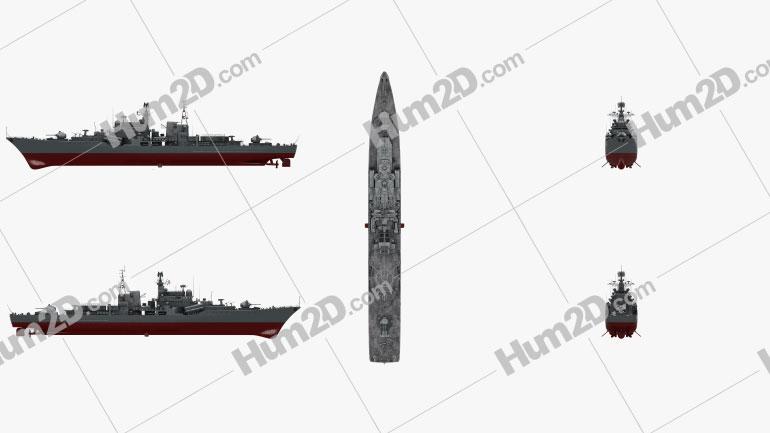 Sovremennyy-class destroyer Ship clipart
