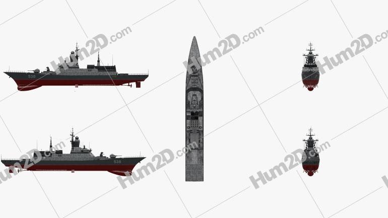 Steregushchy-class corvette Ship clipart