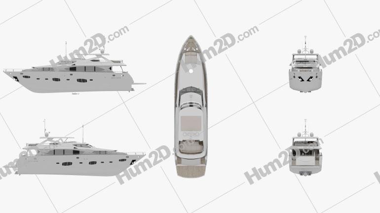 Sunseeker 30m Yacht Ship clipart