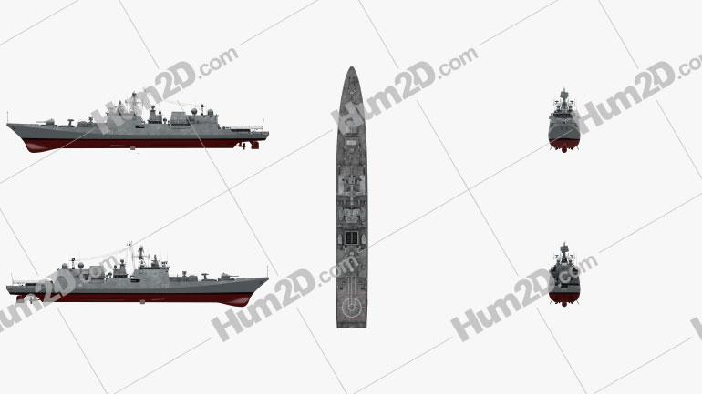 Talwar-class frigate Ship clipart