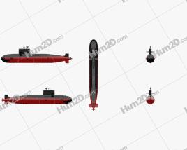 Type 039A Chinese Navy Submarine