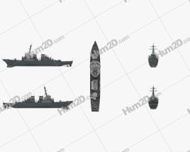 USS Arleigh Burke (DDG-51) Clipart