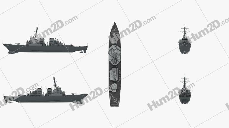 USS Arleigh Burke (DDG-51) Clipart Image