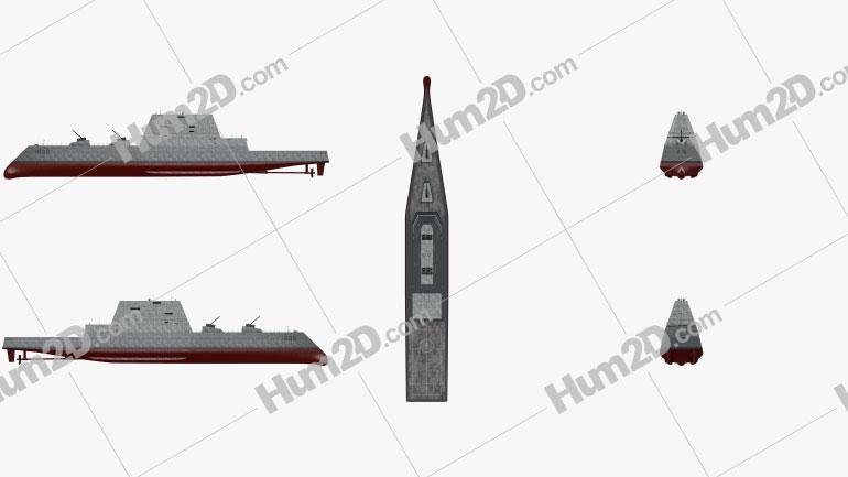 USS Zumwalt United States Navy destroyer Ship clipart