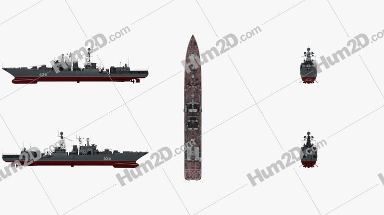 Udaloy-class destroyer Ship clipart