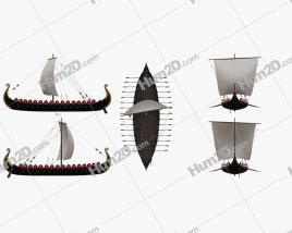 Viking Longship Navio clipart