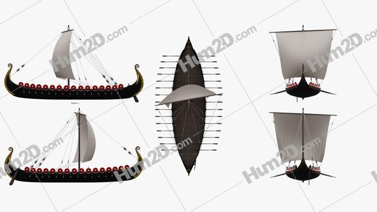 Viking Longship Clipart Image