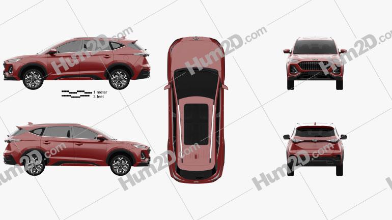 SiHao X8 2020 car clipart