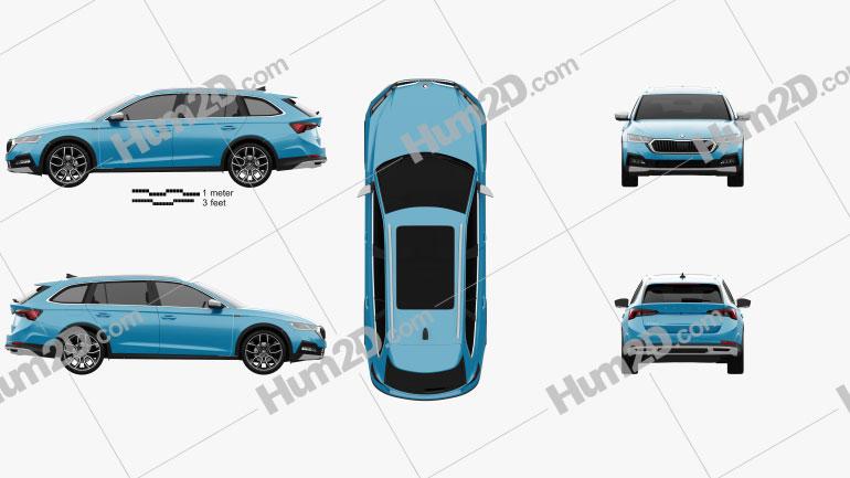 Skoda Octavia Scout 2021 car clipart