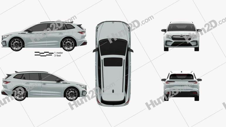 Skoda Enyaq iV 2021 car clipart