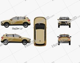 Skoda Kushaq 2022 car clipart