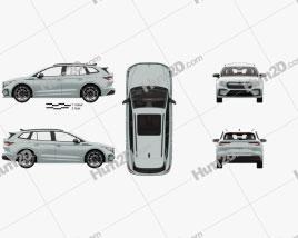 Skoda Enyaq iV Founders Edition with HQ interior 2021 car clipart
