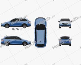 Skoda Fabia Scoutline combi 2018 car clipart