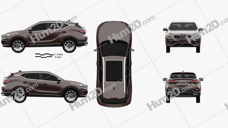 Soueast DX7 XingYue 2020 car clipart