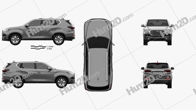 SsangYong Rexton 2021 car clipart