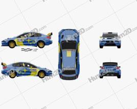 Subaru WRX VT20R Rally 2020 car clipart