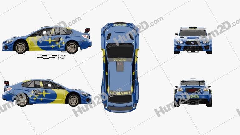 Subaru WRX Rally 2021 car clipart