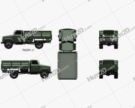 Sungri 61NA Flatbed Truck 1979