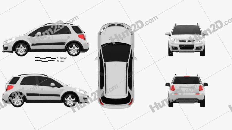 Suzuki SX4 2010 Clipart Bild